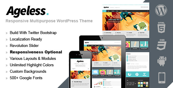 Ageless Responsive Multipurpose Theme