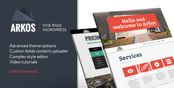 ARKOS - Wordpress Responsive One